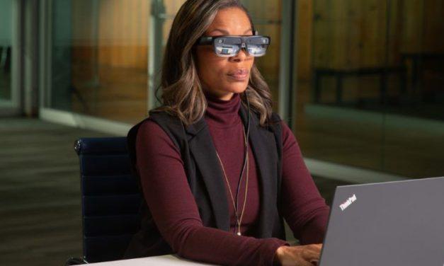 Óculos digitais de realidade aumentada da Lenovo